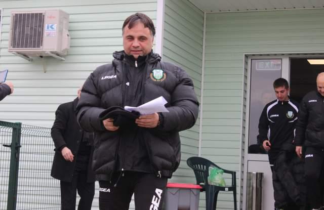 Николай Митов е доволен от представянето на футболистите си.
