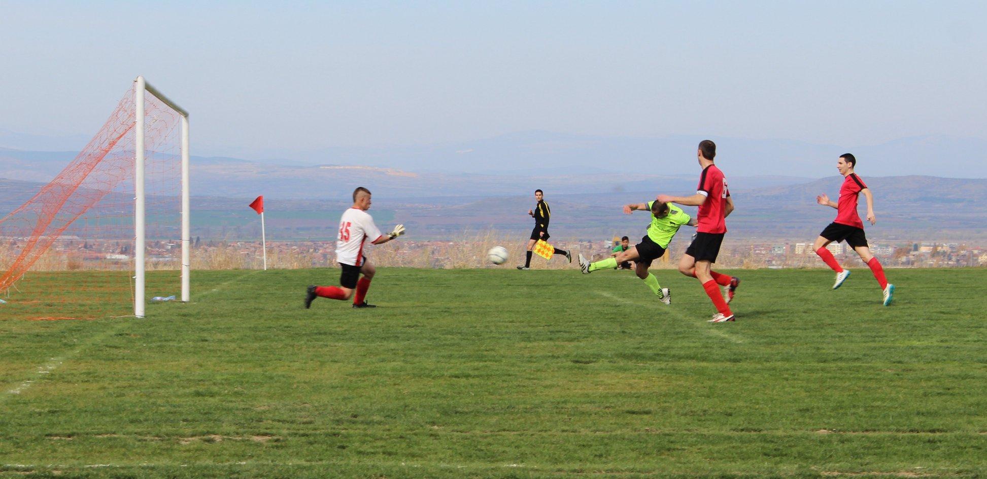 Първият гол на новия стадион.