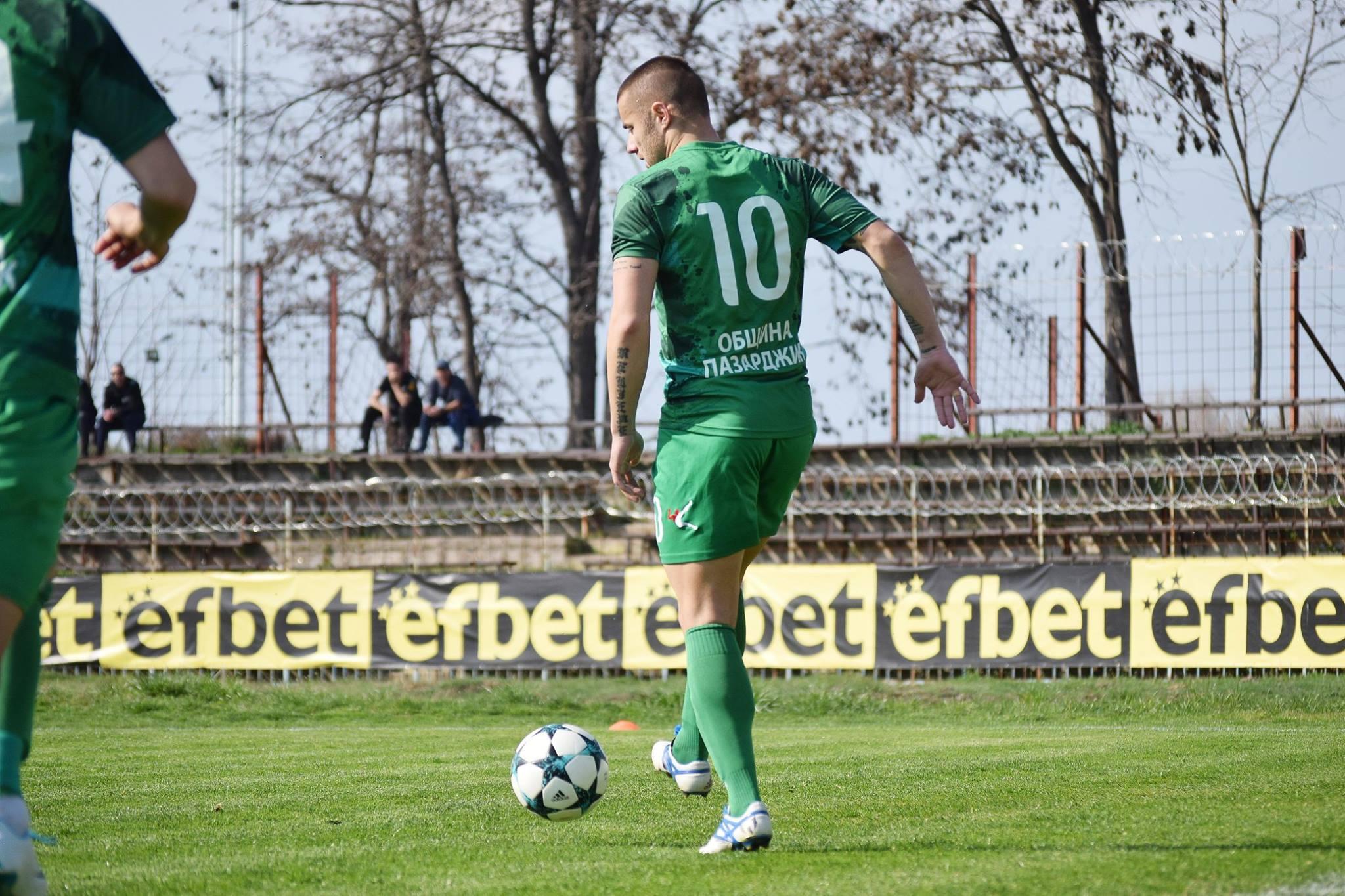 Хебър ще загуби временно автора на победния гол в мача Кирил Георгиев.
