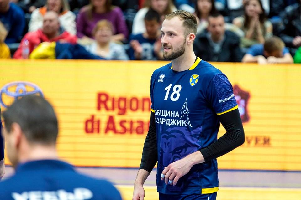 Брадли Гантър стана първият носител на зелен картон в българското волейболно първенство!